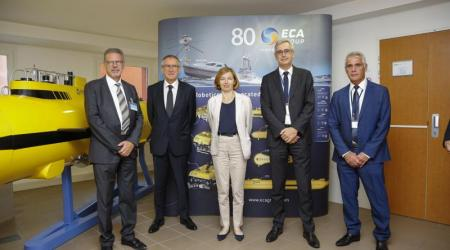 ECA GROUP - EVENT - The French Minister of Armed Forces meets ECA Group teams in La Garde 4