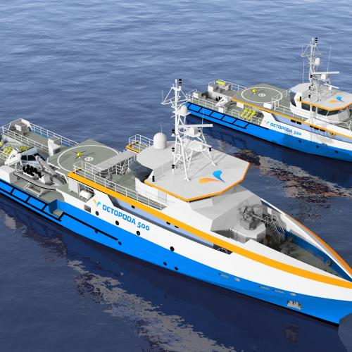 MAURIC and ECA Group unveil OCTOPODA: a new range of motherships for mine warfare carrying unmanned systems