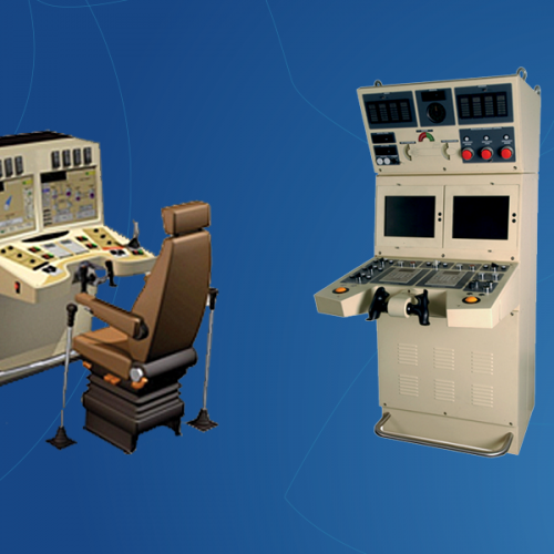 Design of new components for the French Navy (steering simulator & longitudinal manoeuvring console for submarines...)